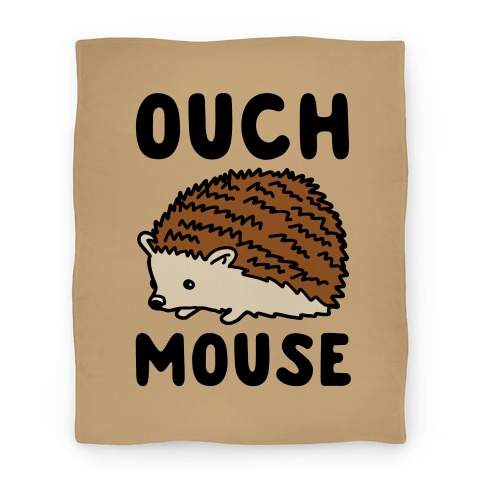 Ouch Mouse Hedgehog Parody Blanket
