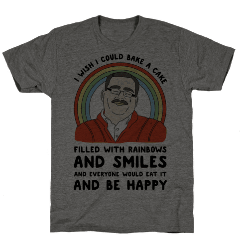 Ken Bone Cake Filled With Rainbows Mens T-Shirt