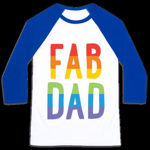 Fab Dad Baseball Tee