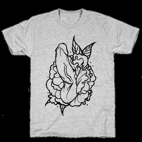 Floral Penis Mens/Unisex T-Shirt
