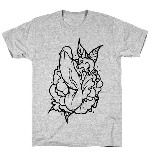 Floral Penis T-Shirt