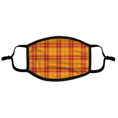Autumn Plaid Flat Face Mask