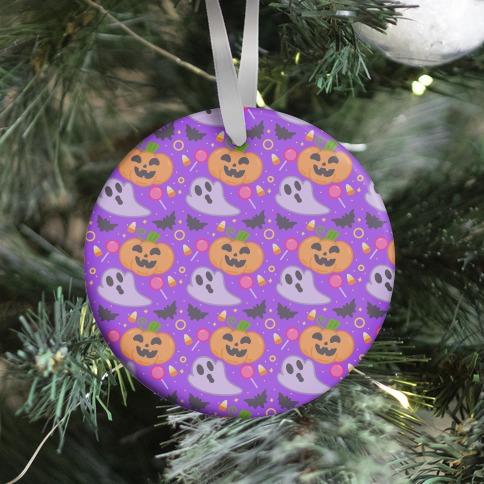 Halloween Fun Pattern Ornament
