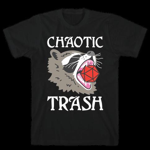 Chaotic Trash (Raccoon) Mens/Unisex T-Shirt
