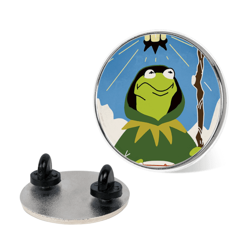 The Kermit Tarot Card Pin