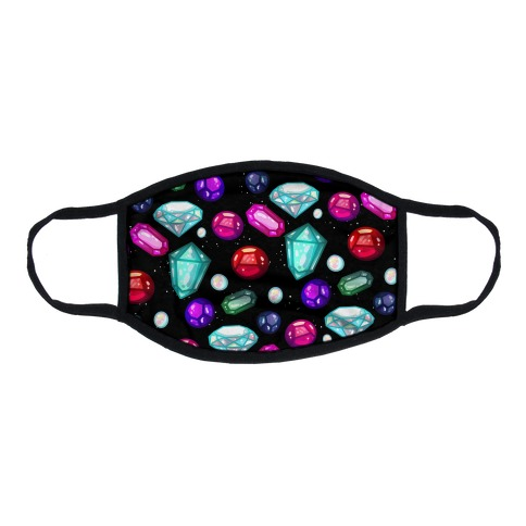Gemstones Pattern Flat Face Mask