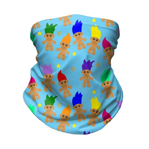 Rainbow Troll Pattern Neck Gaiter