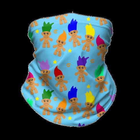 Rainbow Troll Pattern Neck Gaiter