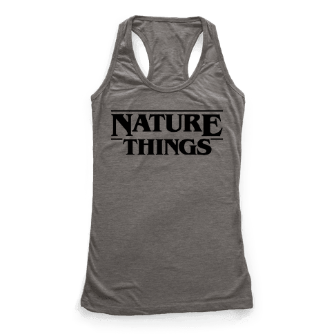 Nature Things Parody Racerback Tank Top