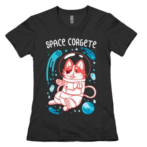 Space Corgete Womens T-Shirt