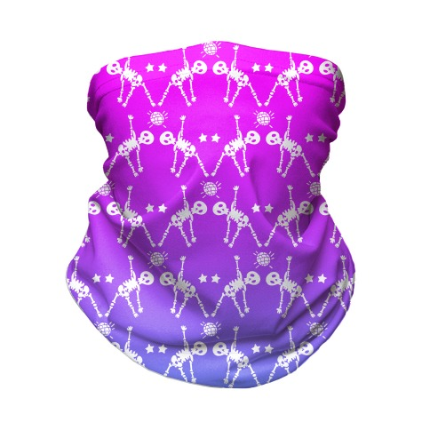 Disco Bones Pattern Neck Gaiter