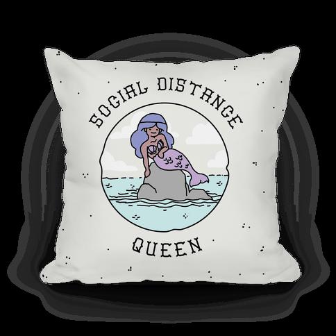Social Distance Queen Mermaid Pillow