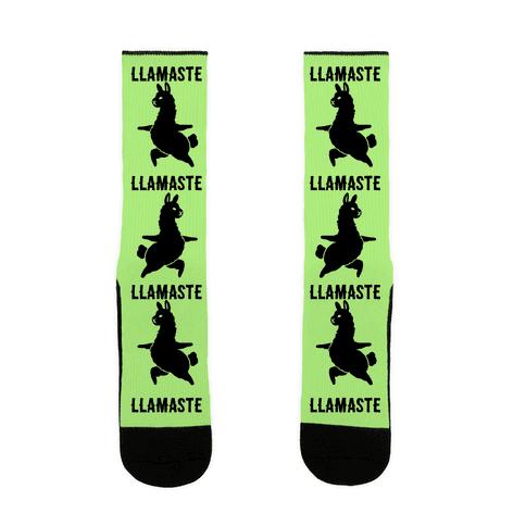 Llamaste Yoga Llama Sock