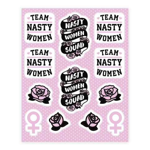 Team Nasty Women Squad Sticker/Decal Sheet