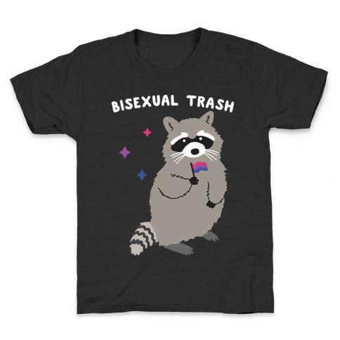 Bisexual Trash Raccoon Kids T-Shirt