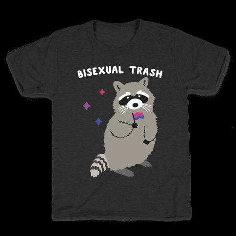 Bisexual Trash Raccoon Kids T-Shirt