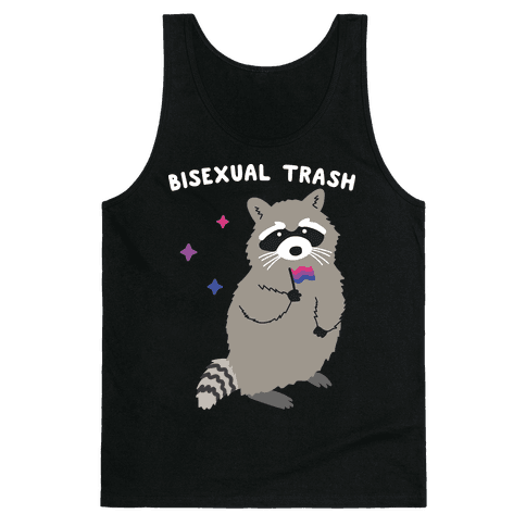 Bisexual Trash Raccoon Tank Top