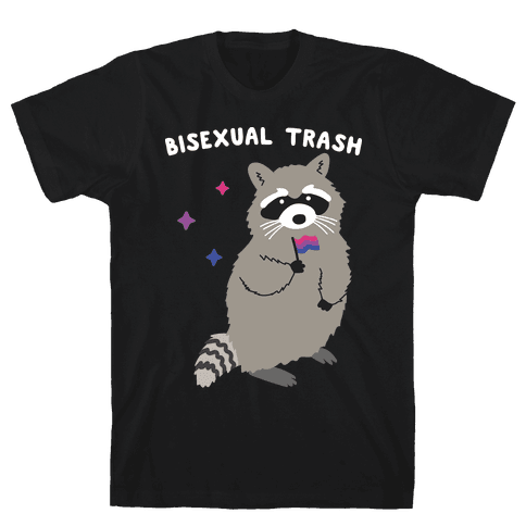 Bisexual Trash Raccoon Mens/Unisex T-Shirt
