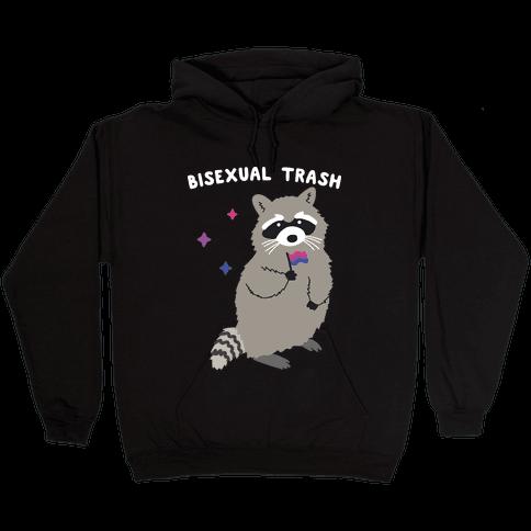 Bisexual Trash Raccoon Hooded Sweatshirt