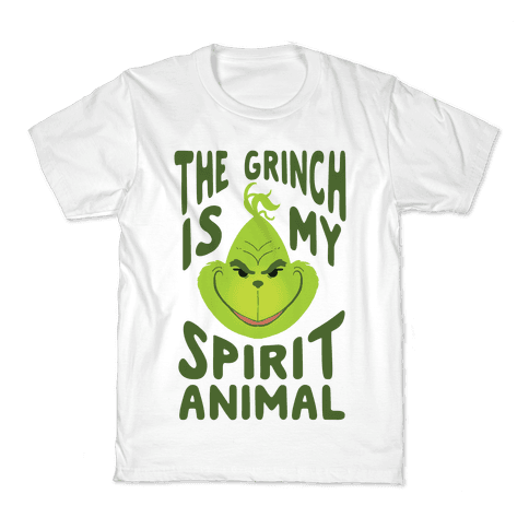 The Grinch Is My Spirit Animal Kids T-Shirt