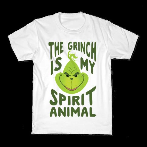 The Grinch Is My Spirit Animal Kids T-Shirt