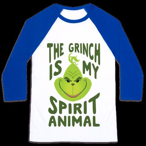 The Grinch Is My Spirit Animal Baseball Tee