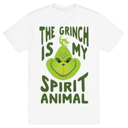 The Grinch Is My Spirit Animal Mens T-Shirt