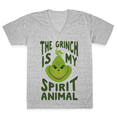 The Grinch Is My Spirit Animal V-Neck Tee Shirt