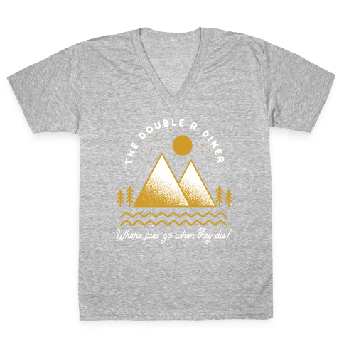 The Double R Diner Gold V-Neck Tee Shirt