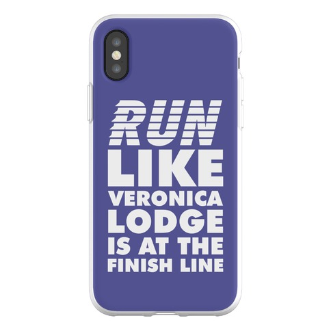 Run Like Veronica is at the Finish Line Phone Flexi-Case