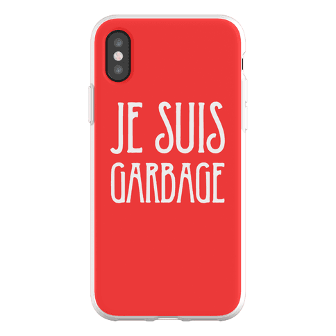 Je Suis Garbage Phone Flexi-Case