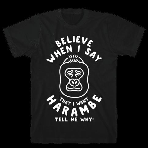 Harambe Meme Parody Mens T-Shirt
