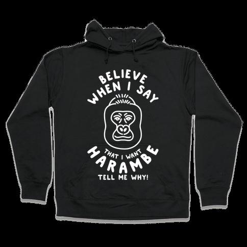 Harambe Meme Parody Hooded Sweatshirt