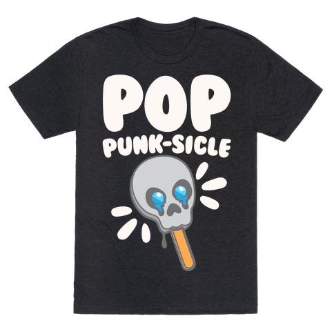 Pop Punk-sicle Parody White Print T-Shirt