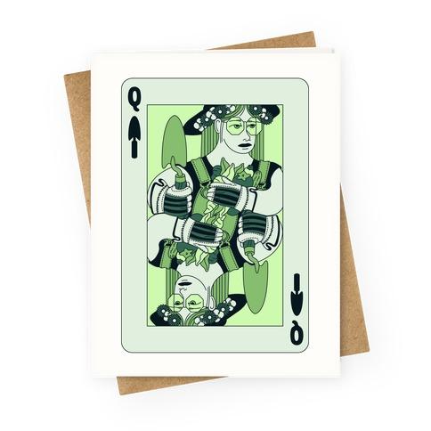 Queen Of Garden Spades Greeting Card