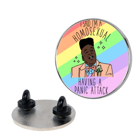 Homosexual Having a Panic Attack pin