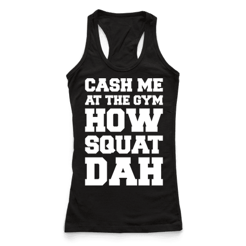 Cash Me At The Gym White Print