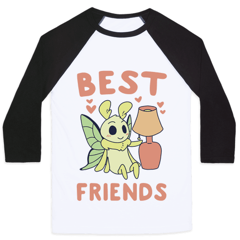 Best Friends - Moth and Lamp  Baseball Tee
