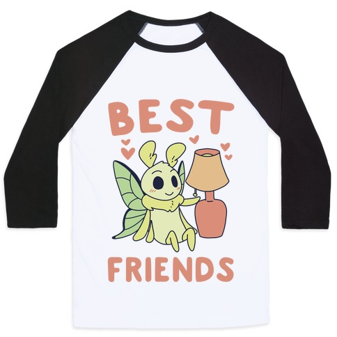 Best Friends - Moth and Lamp  Baseball Tee