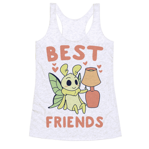 Best Friends - Moth and Lamp  Racerback Tank Top