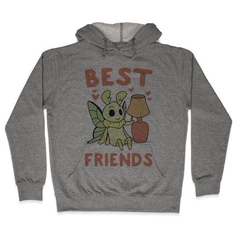 Best Friends - Moth and Lamp  Hooded Sweatshirt