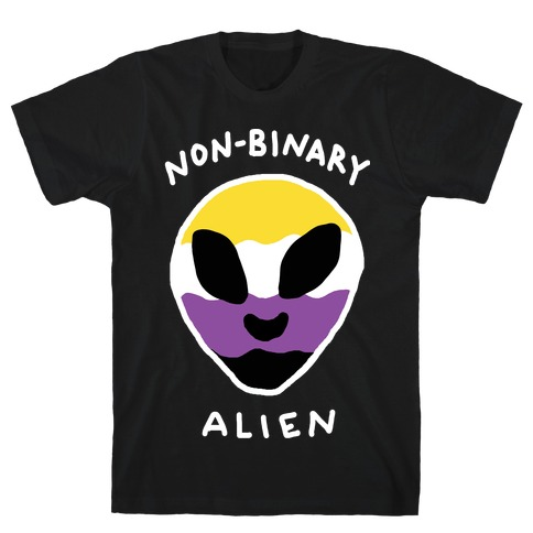 Non Binary Alien Mens T-Shirt
