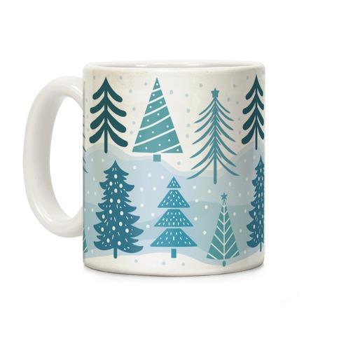 Christmas Tree Pattern Coffee Mugs Lookhuman