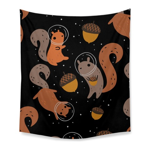 Squirrels In Space Tapestry