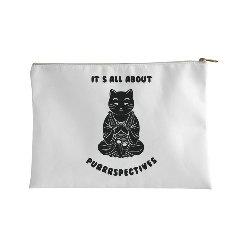 It's All About Purrrspectives (white) Accessory Bag