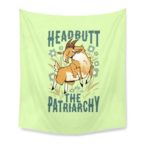Headbutt The Patriarchy Tapestry