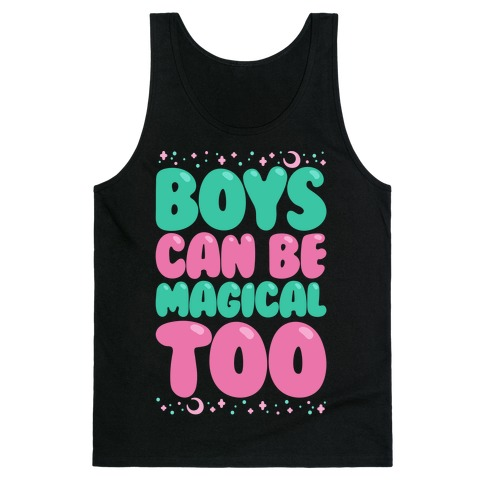 Boys Can Be Magical Too White Print Tank Top