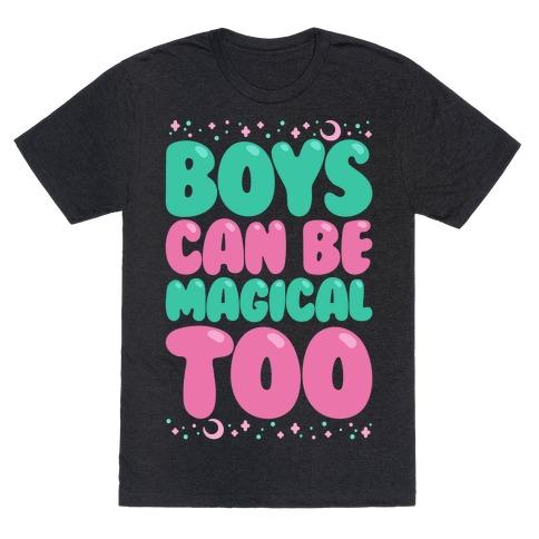 Boys Can Be Magical Too White Print T-Shirt