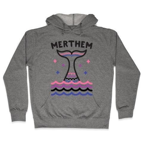 Merthem (Gender Fluid Mermaid) Hooded Sweatshirt