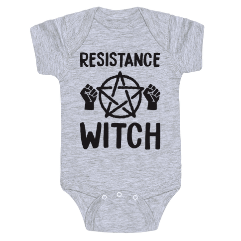 Resistance Witch Baby Onesy